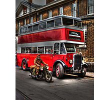 RV 6358-English Electric bodied Leyland Titan Photographic Print