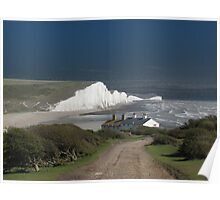 Cottages & The Seven Sisters Poster