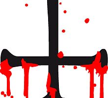 blood drop cross inverted Satanic Satanist by Style-O-Mat