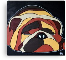 Abstract sleeping dog design Canvas Print