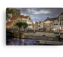 Holland.. Goedereede close to the City of Den Briel  Canvas Print
