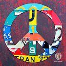 Peace License Plate Art by designturnpike