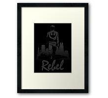 Rebel (Blackout Edition) Framed Print