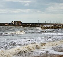 Unsettled Seas ~ Lyme Regis by Susie Peek