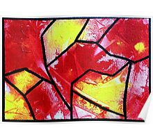 Abstract stained glass 2 Poster