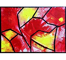 Abstract stained glass 2 Photographic Print