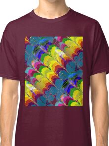 Retro-Psychedelic Rainbows Classic T-Shirt