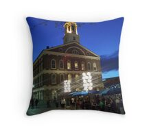 Quincey Market At Night Throw Pillow