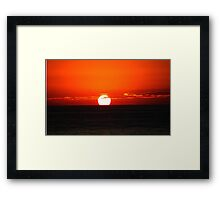 The Sun Rises Framed Print