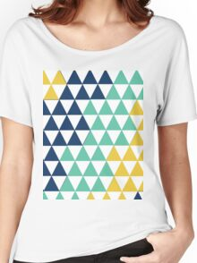Modern Pastel Colors Triangle Pattern Women's Relaxed Fit T-Shirt