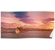 Blanketed by azure sky Poster