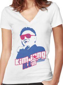 Kim Jong ILLin' (Kim Jong-il) Women's Fitted V-Neck T-Shirt