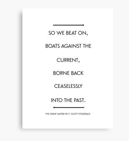 Gatsby Quote b&w Canvas Print