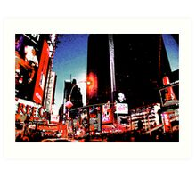 Times Square - digital art Art Print
