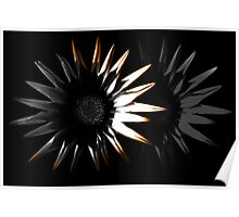 Abstract Flower, Orange 3/5 Poster