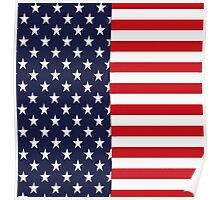 STARS AND STRIPES AMERICAN FLAG Poster