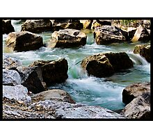 Water and rocks Photographic Print