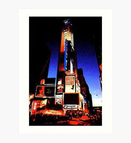Times Square - digital art Art Print