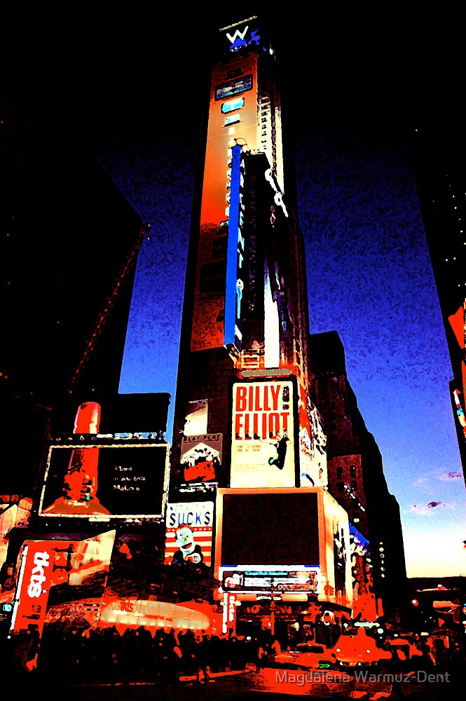 Times Square - digital art by Magdalena Warmuz-Dent