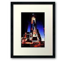 Times Square - digital art Framed Print