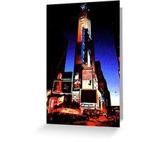 Times Square - digital art Greeting Card