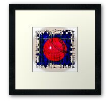 Red & Blue Framed Print