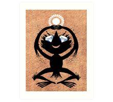 Diamond Eye Sun Dance Rorscharch Creature Art Print