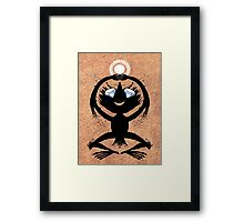Diamond Eye Sun Dance Rorscharch Creature Framed Print