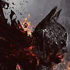 The Bat On Fire by Naked-Monkey