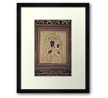 La Moreneta . The Cult of the Black Virgin .Virgin Goddess:  Studies in the Pagan and Christian Roots of Mariology . Framed Print