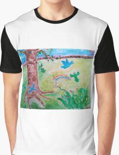 Backyard World Graphic T-Shirt