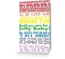 The Doctor speaks - old school Greeting Card