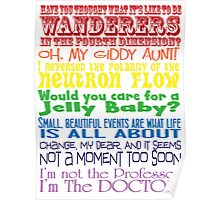 The Doctor speaks - old school Poster