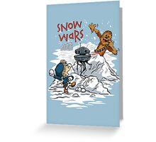 Snow Wars Greeting Card