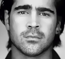 Colin Farrell Digital Art Portrait by David Alexander Elder by David Alexander Elder