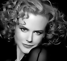 Nicole Kidman Digital Art Portrait by David Alexander Elder by David Alexander Elder