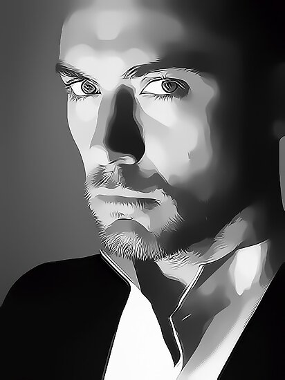 Jude Law Digital Art Portrait by David Alexander Elder by David Alexander Elder