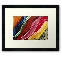 Wave my life colorful - red, yellow, green, orange, blue, Framed Print