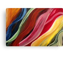 Wave my life colorful - red, yellow, green, orange, blue, Canvas Print