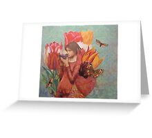 The Tulips Stand Arrayed Greeting Card