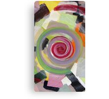 Colorful, yellow, black, orange, red, pink, gray, abstract 1 Canvas Print