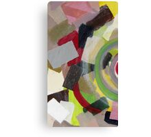 Colorful, yellow, black, orange, red, pink, gray, abstract 2 Canvas Print