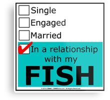 In A Relationship With My Fish Metal Print