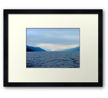 INTO THE DAWNS LIGHT,  LOCH NESS, SCOTLAND..........! Framed Print