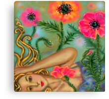 AWAKE IN POPPIES Canvas Print