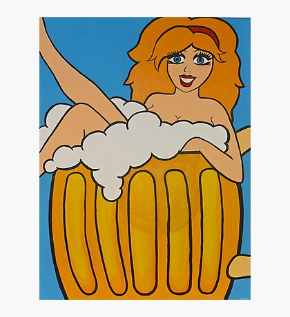 Beer Burlesque Photographic Print