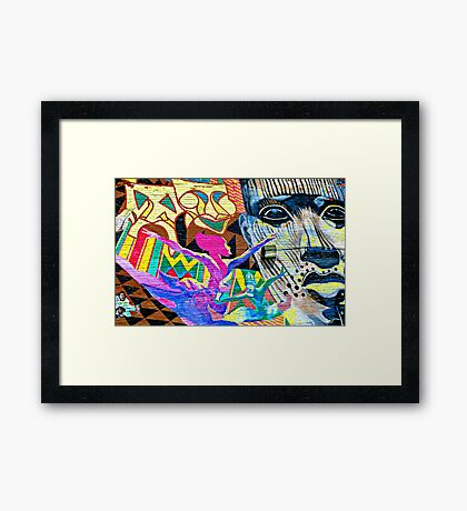 The future is in the new world Framed Print