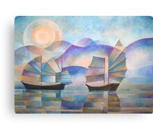 Shades of Tranquility - Cubist Junks Canvas Print