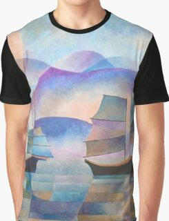 Shades of Tranquility - Cubist Junks Graphic T-Shirt