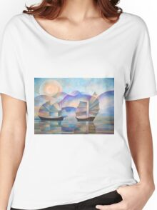 Shades of Tranquility - Cubist Junks Women's Relaxed Fit T-Shirt